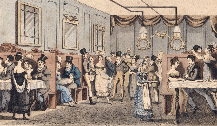 Eating out, 19thC!