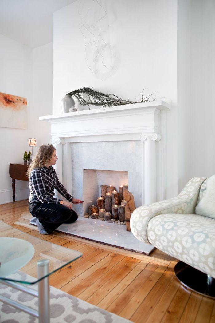 1001 id es d co pour votre fausse chemin e d corative. Black Bedroom Furniture Sets. Home Design Ideas