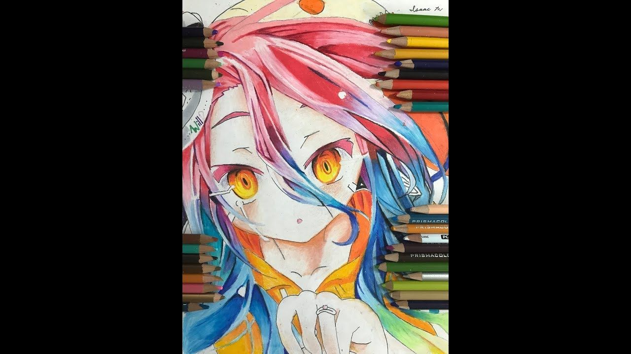Speed Drawing Anime How To Draw Shuvi Dola From No Game No Life Zero Anime Drawings No Game No Life