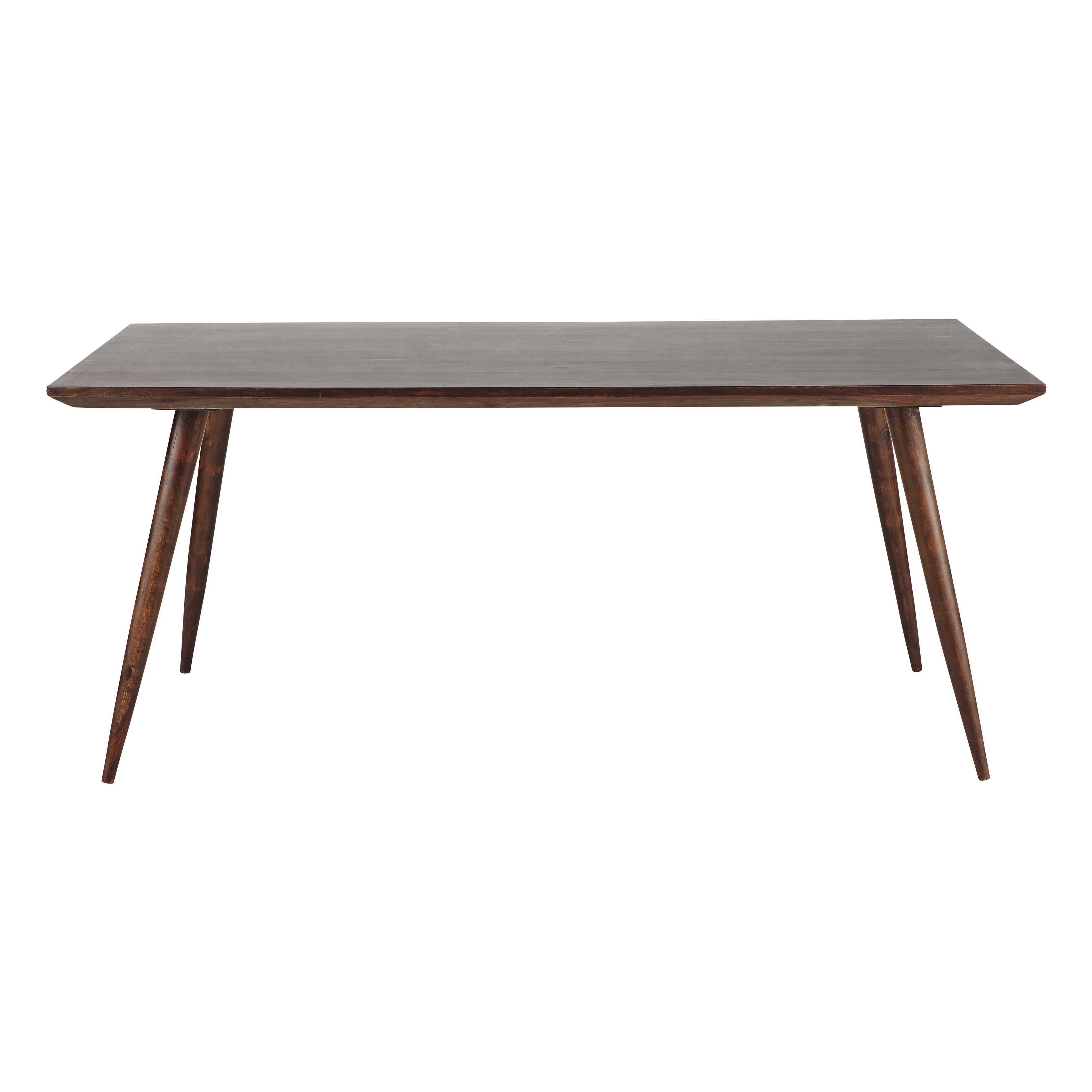 Table de salle  manger en bois de sheesham massif brun L 175 cm
