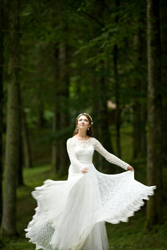 An Absolutely Beautiful Knitted Dress Knitted Wedding