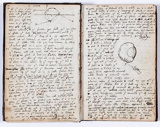 Newton's notebook pages