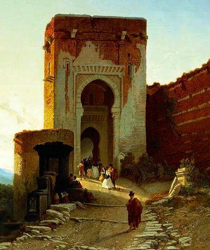 Puerta de la Justicia. Alhambra de Granada Spain   Libros