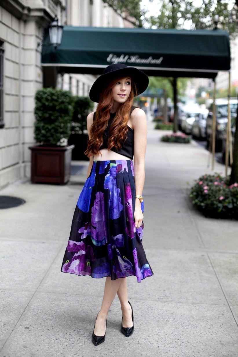 Midi Skirt on Park Avenue