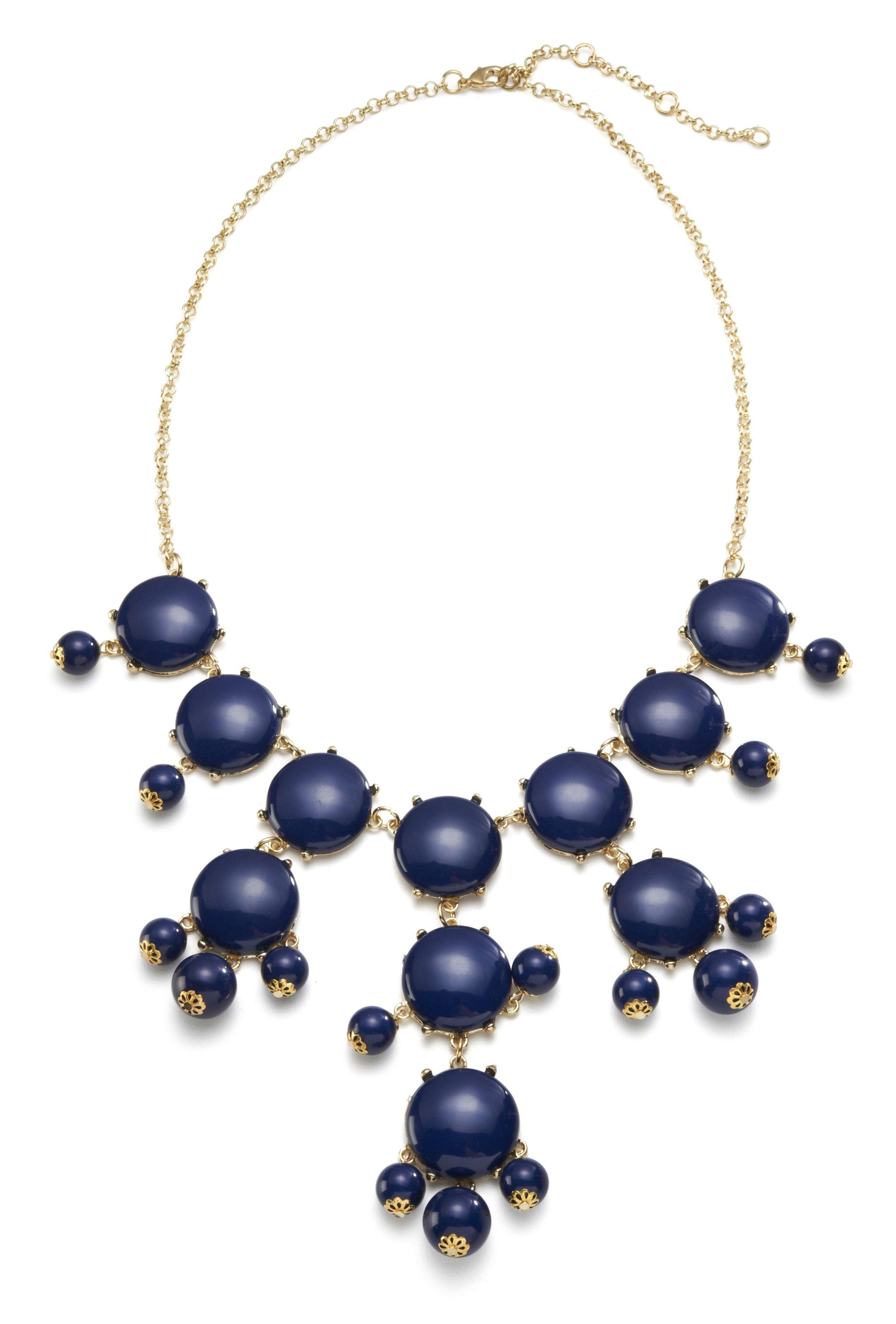 Navy Blue Popcorn Necklace $44 - SwellCaroline.com