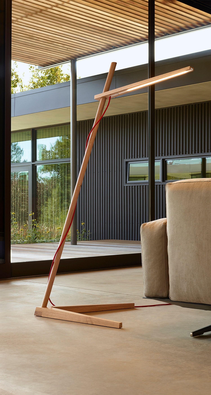 Luci Per Tettoia In Legno clamp floor lamp by pablo | clam flr wht oak | lampade