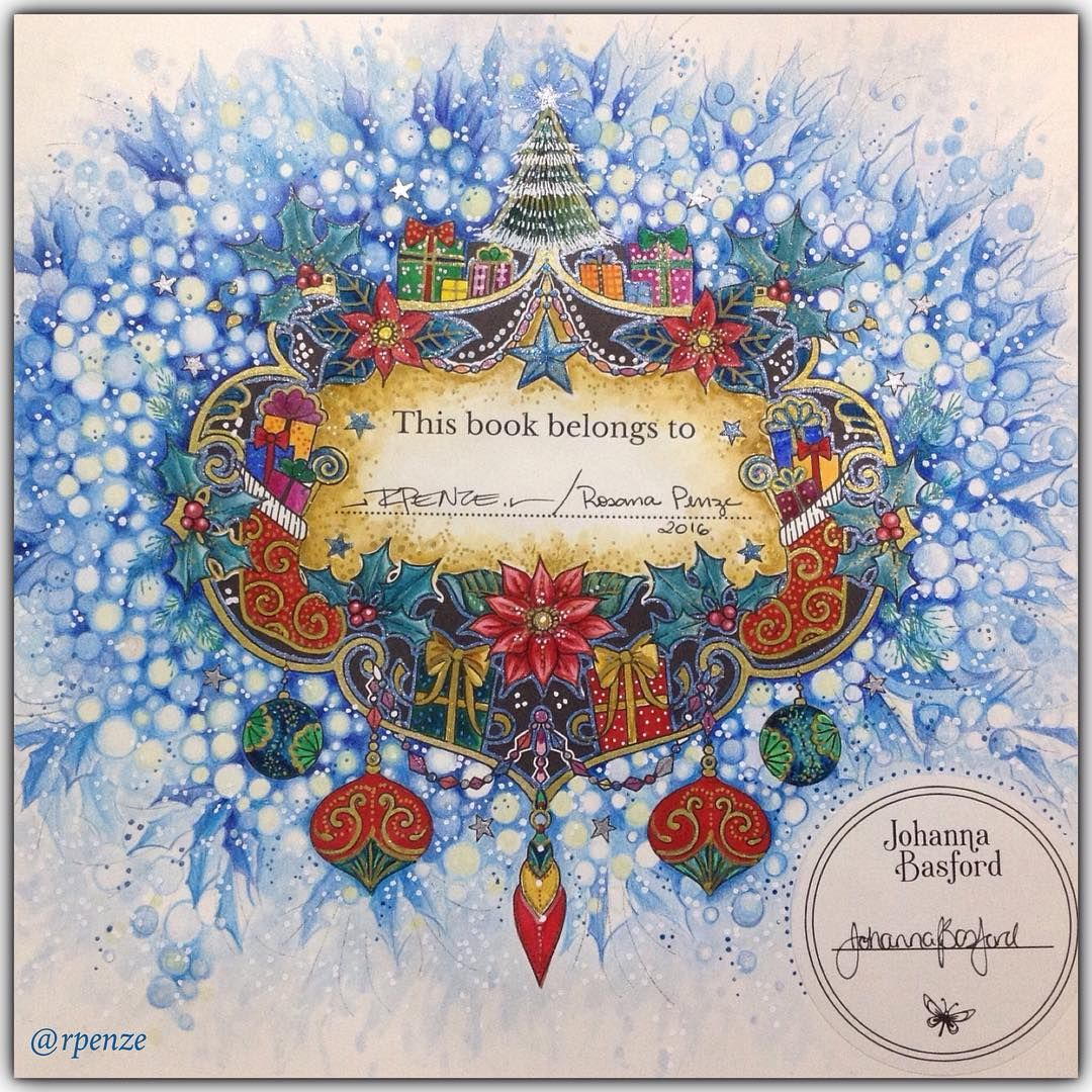 Johanna\'s Christmas - A Festive Coloring Book - @johannabasford ...