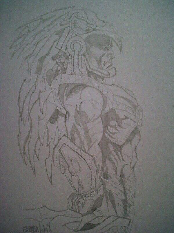 Dibujo A Lápiz Guerrero Aguila D I B U J O S En 2019 Sketches