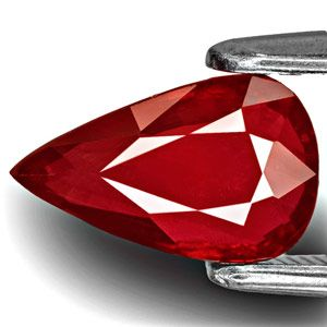 2.04-Carat Unheated Pear-Shaped Blood Red Ruby from Mozambique