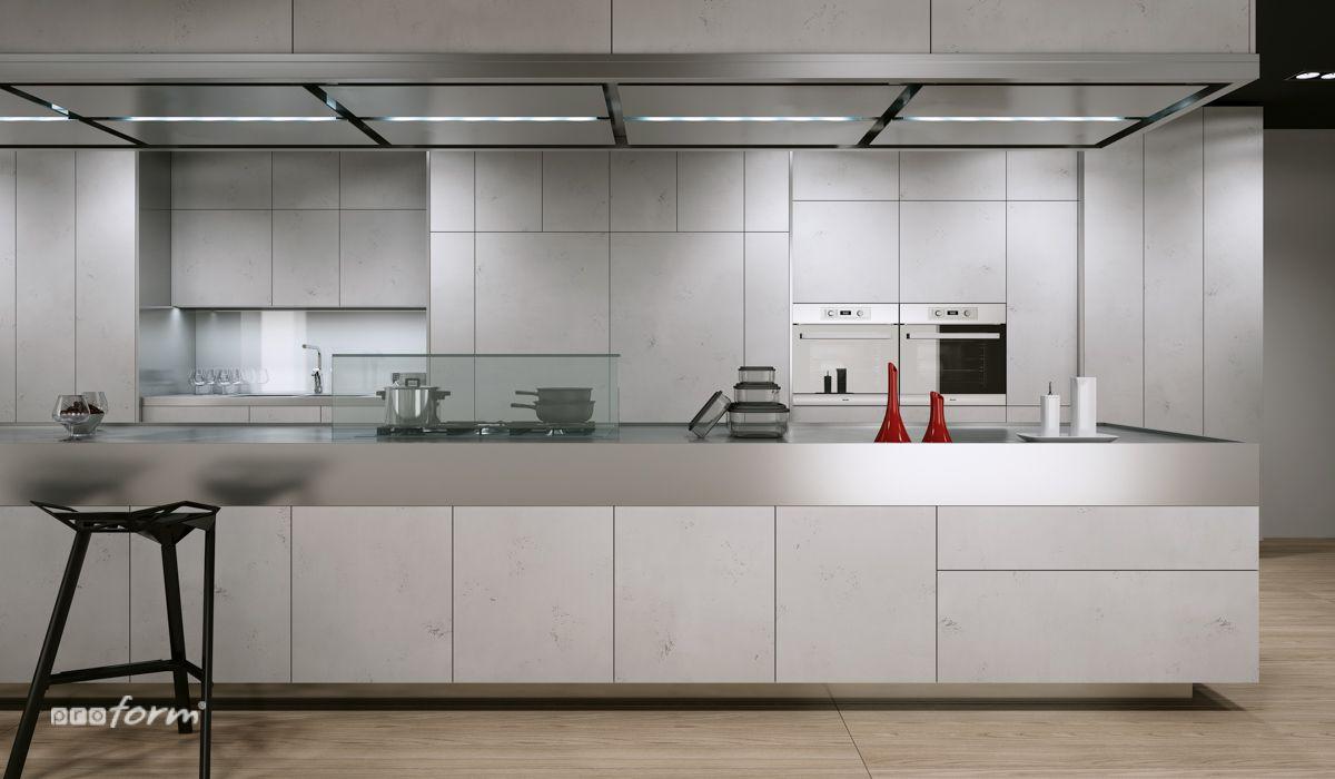 Aranzacja Kuchni W Kolorze Szarym To Modne I Nowoczesne Rozwiazanie Ktore Z Powodzeniem Zastepuje Popularny Trend Na Steryl Kitchen Cabinets Home Decor Design