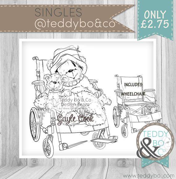 Bionic Bo Wheelchair Superhero Bear Digi Stamp Bartlett School