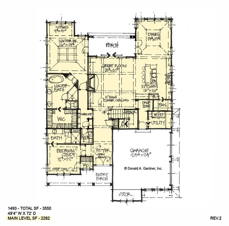Efficient four bedroom family home plan