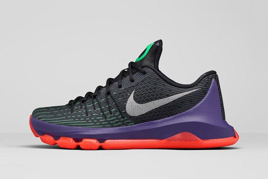 new styles 654db bec45 Nike KD 8  Vinary  (Black   White   Shock Green   Hyper Orange)