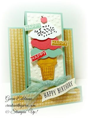 Create with Gwen, Stampin' Up! Independent Demonstrator, Gwen Edelman, Create with Gwen: Sprinkles of Life Center Step Card