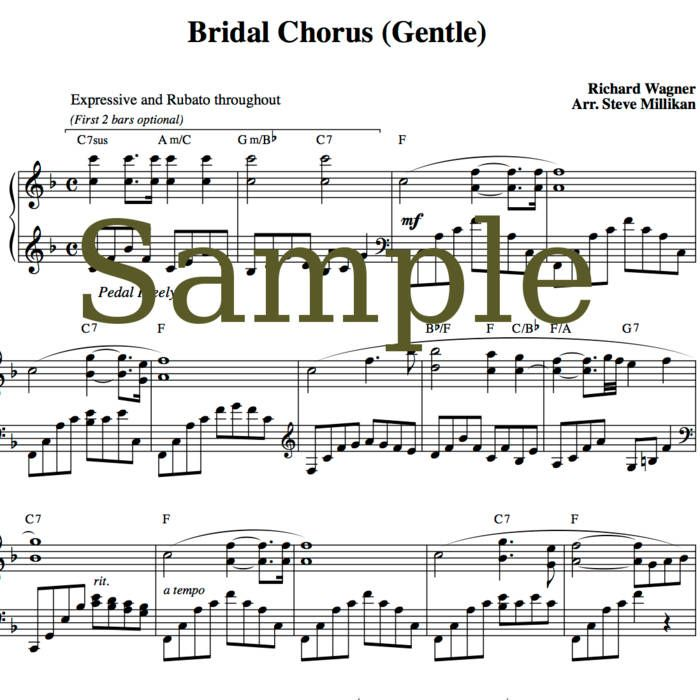 Soft Piano Arrangement Of The Traditional Bridal March Gentle Short Long Versions
