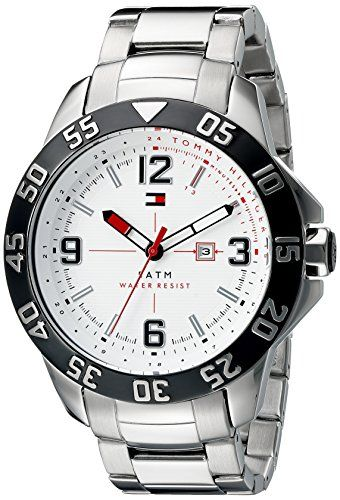 cdf178a41 Tommy Hilfiger Mens 1790988 Cole Analog Display Quartz Silver Watch >>>  More info could be found at the image url. (Note:Amazon affiliate link)