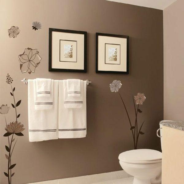 Perfekt Badezimmer Wandgestaltung Ideen Braun