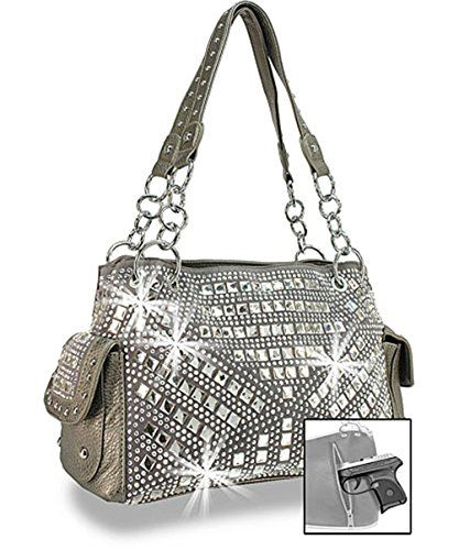 Zzfab Gem Studded Rhinestone Concealed and Carry Purse Pewter    Find out  more about the great product at the image link. 9ac2ca3b21d9c