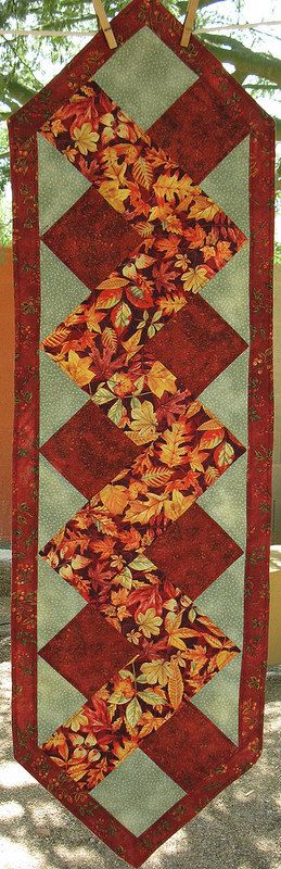 14 X 49inch Table Runner in Autumns Richest by SonoranExpressions #autumncolours