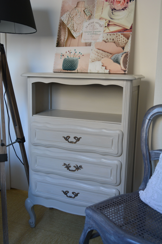 Deco Avec Meuble Merisier meuble en merisier relooké soie grège | meuble en merisier
