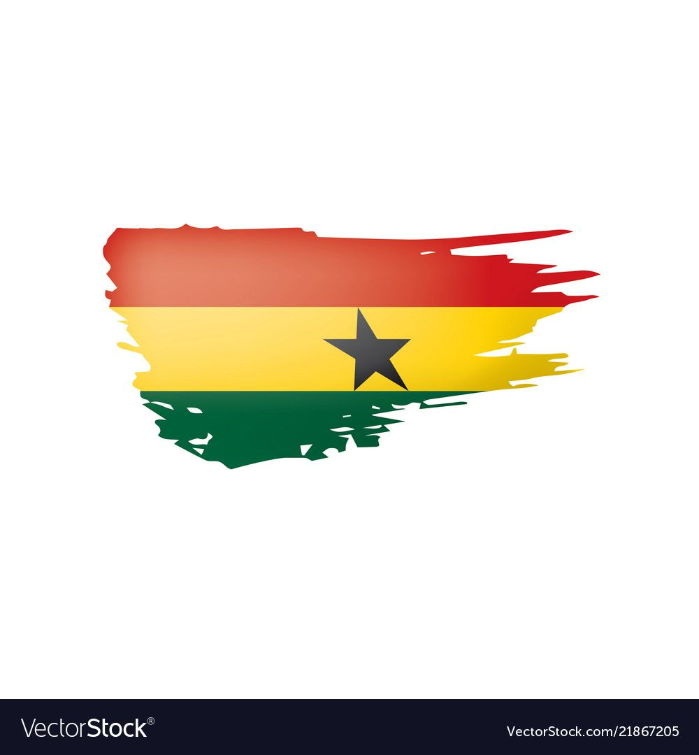 Ghana Flag On A White Royalty Free Vector Image Sponsored White Flag Ghana Royalty Ad Ghana Flag Vector Free Article Design