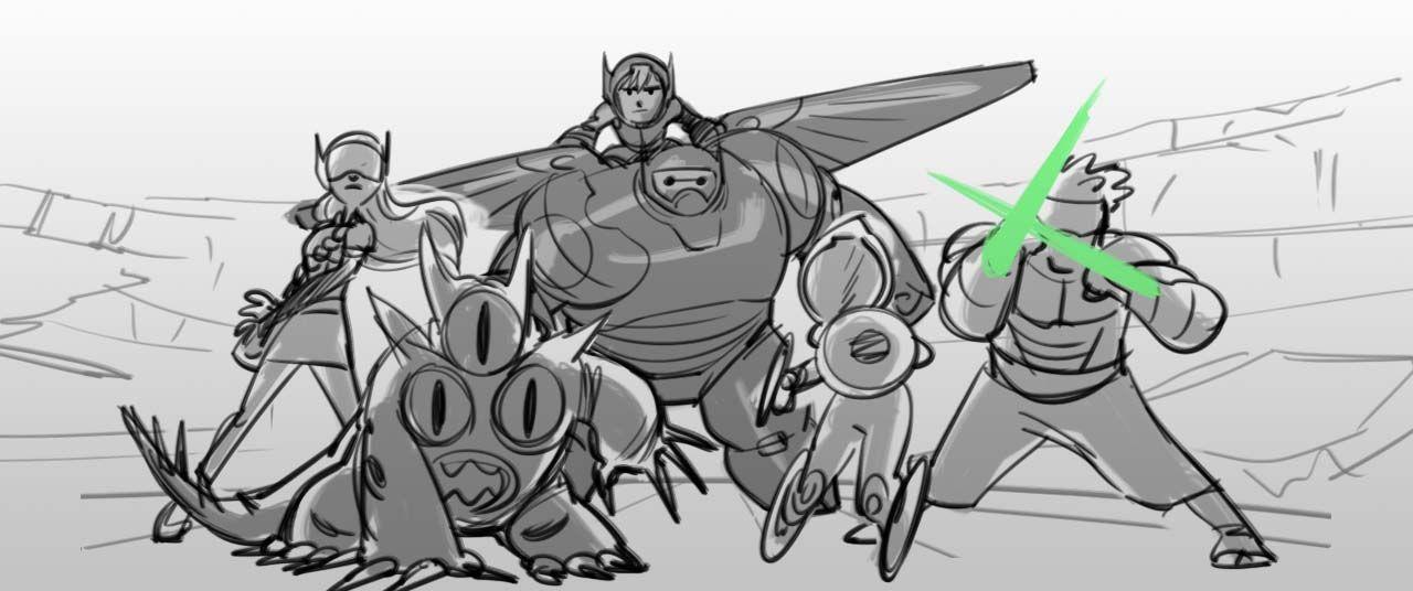 Big Hero  Norm  Concept Art    Storyboard Visual