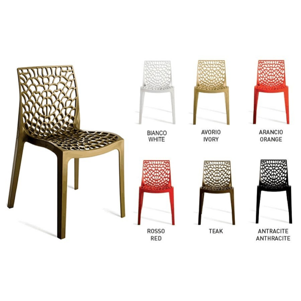 sedie grand soleil in polipropilene modello gruvyer p sedie moderne casa cucina soggiorno