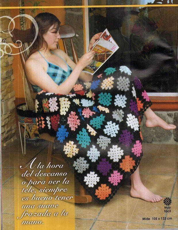 Granny blanket baby blanket ♥LCA♥ with diagrams | Crochet Blankets ...