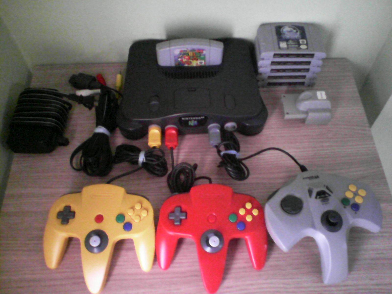 N64 Nintendo 64 Grey Console System Super Mario 64 Bundle