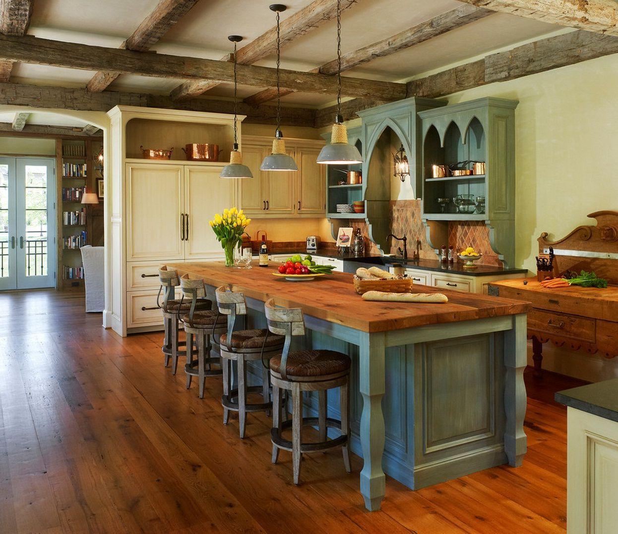 rustic-modern-kitchen-with-antique-look-interior design ideas