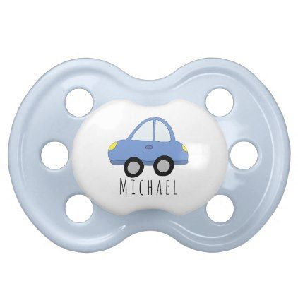 Personalized baby boy blue car vehicle with name pacifier baby personalized baby boy blue car vehicle with name pacifier baby gifts giftidea diy unique cute negle Image collections