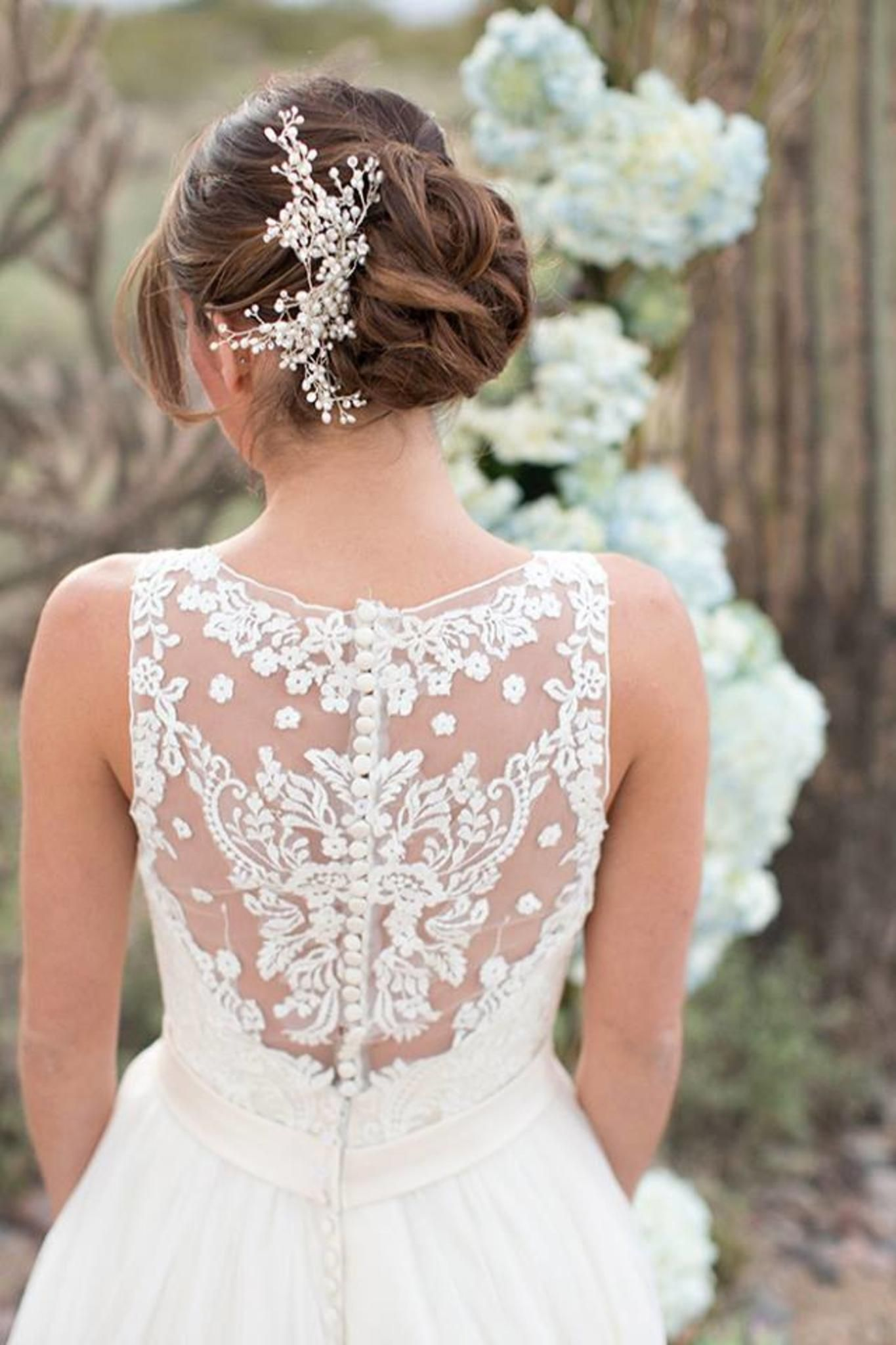 Gorgeous lace back wedding dresses, something like this for the back ...