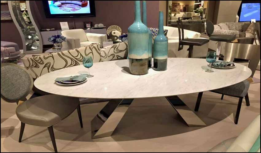 Image Result For Oval Granite Dining Table