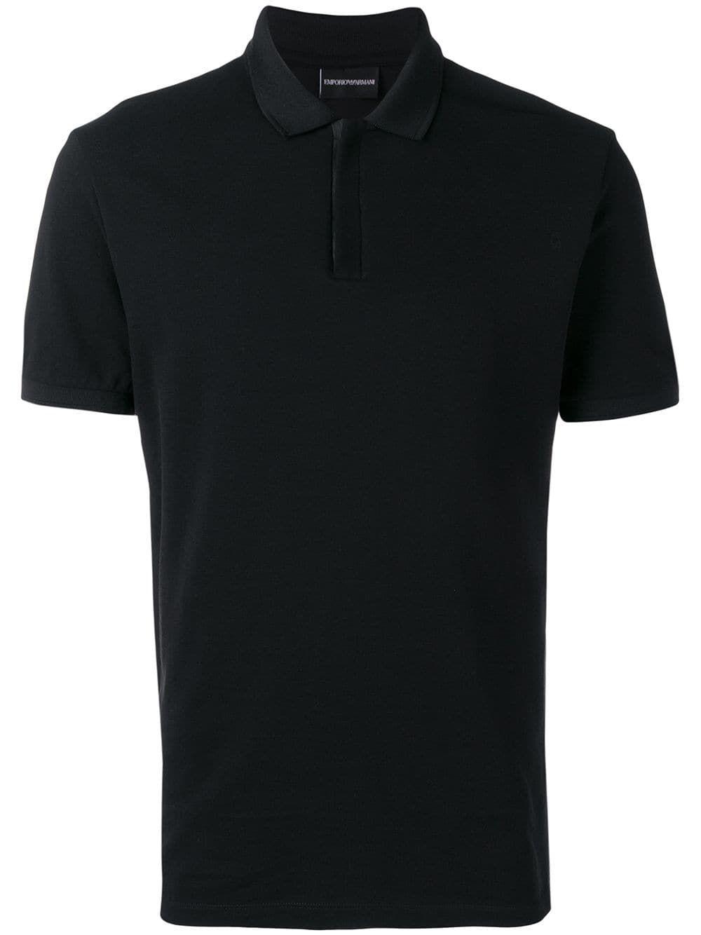 Emporio Armani Emporio Armani Logo Tape Polo Shirt Black
