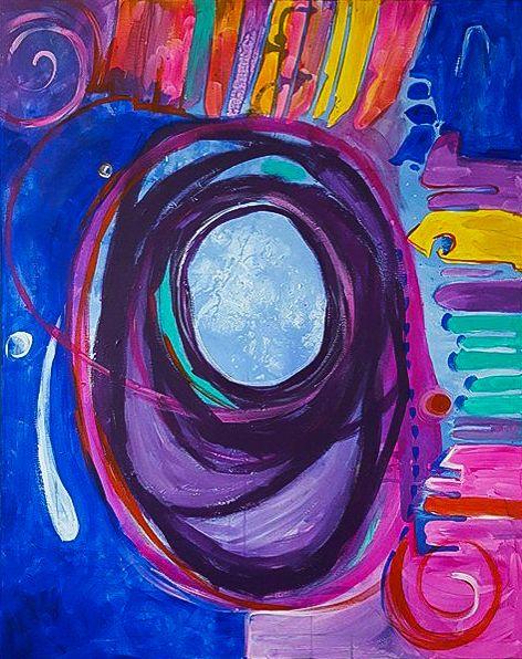 Alien Obraz Wykonany Farbami Akrylowymi Przez Artystkę Plastyka