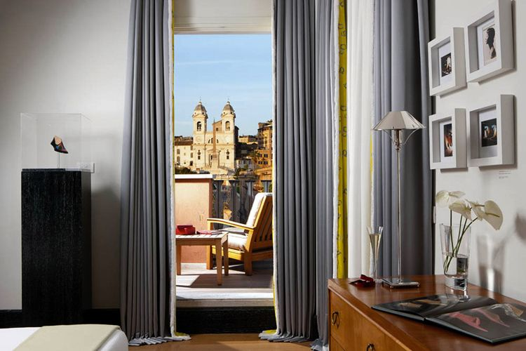 A room with a view. Trinità dei Monti view from Portrait Suites Rome #rethink_hotels