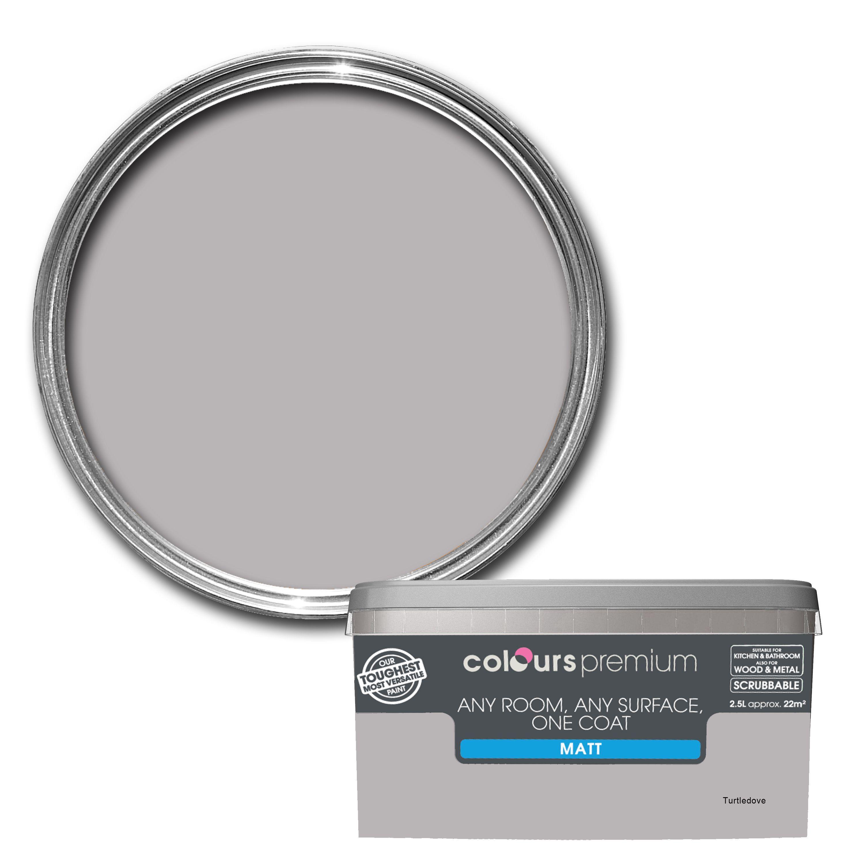 Colours Premium Turtledove Matt Emulsion paint 2.5L | Paint colors& ...