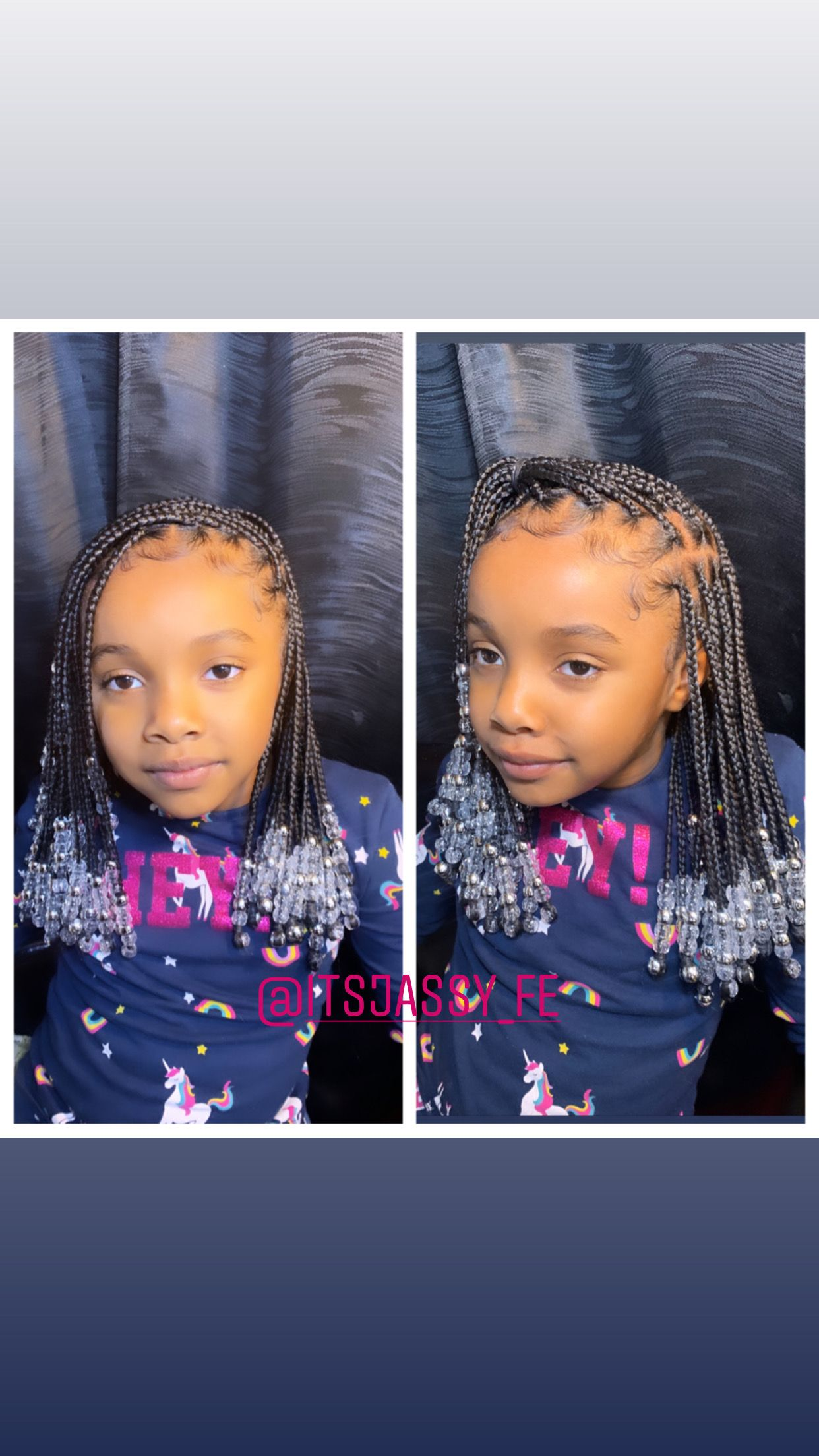 Kids Knotless Braids With Beads Kids Braids With Beads Cute Toddler Hairstyles Toddler Hairstyles Girl