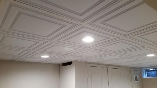 Ceilume Stratford Feather Light White 2 Ft X 4 Ft Lay In Ceiling Panel Case Of 10 V1 Str 24wto 10 The Home Depot Ceiling Panels Decorative Ceiling Panels Drop Ceiling Makeover