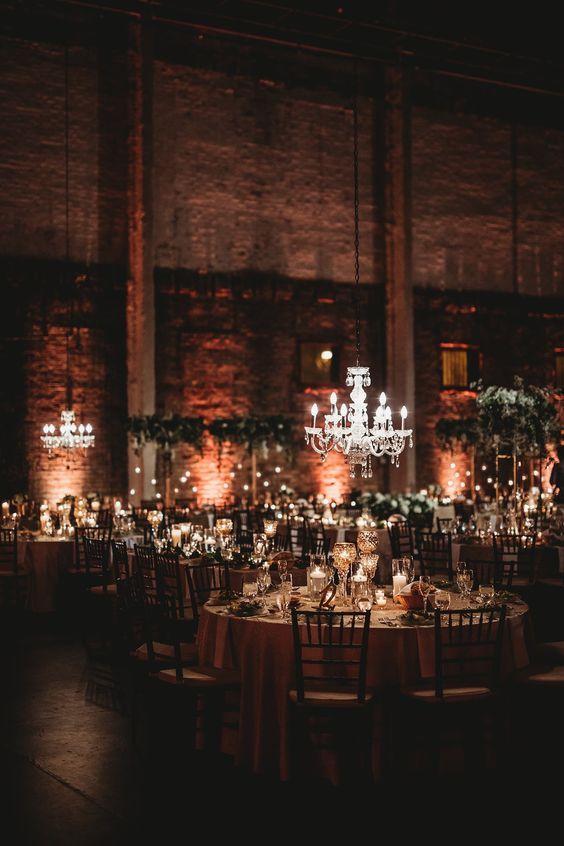 Eucalyptus Wedding Decor Ideas You Can Steal Industrial Wedding Reception Romantic Wedding Receptions Industrial Wedding