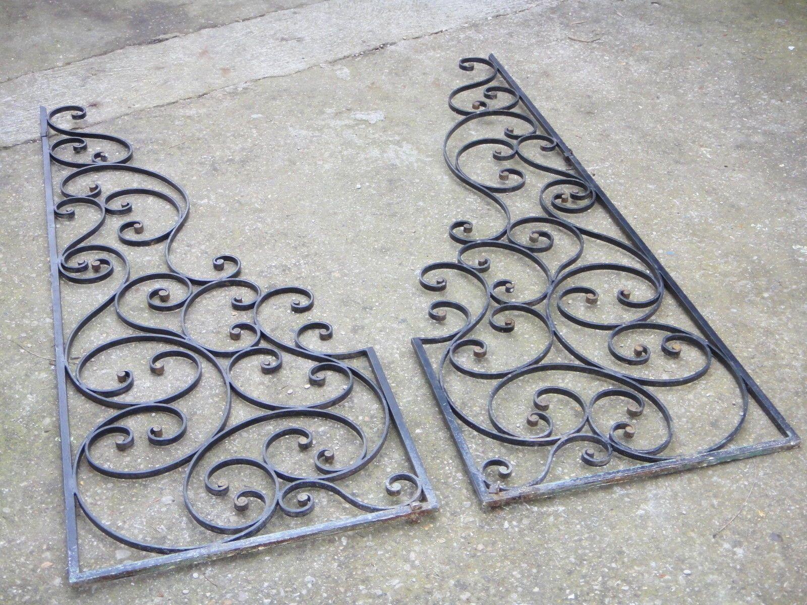 anciennes grilles de s paration cloison claustra fer forge 149 x 53 cm ebay technique de. Black Bedroom Furniture Sets. Home Design Ideas