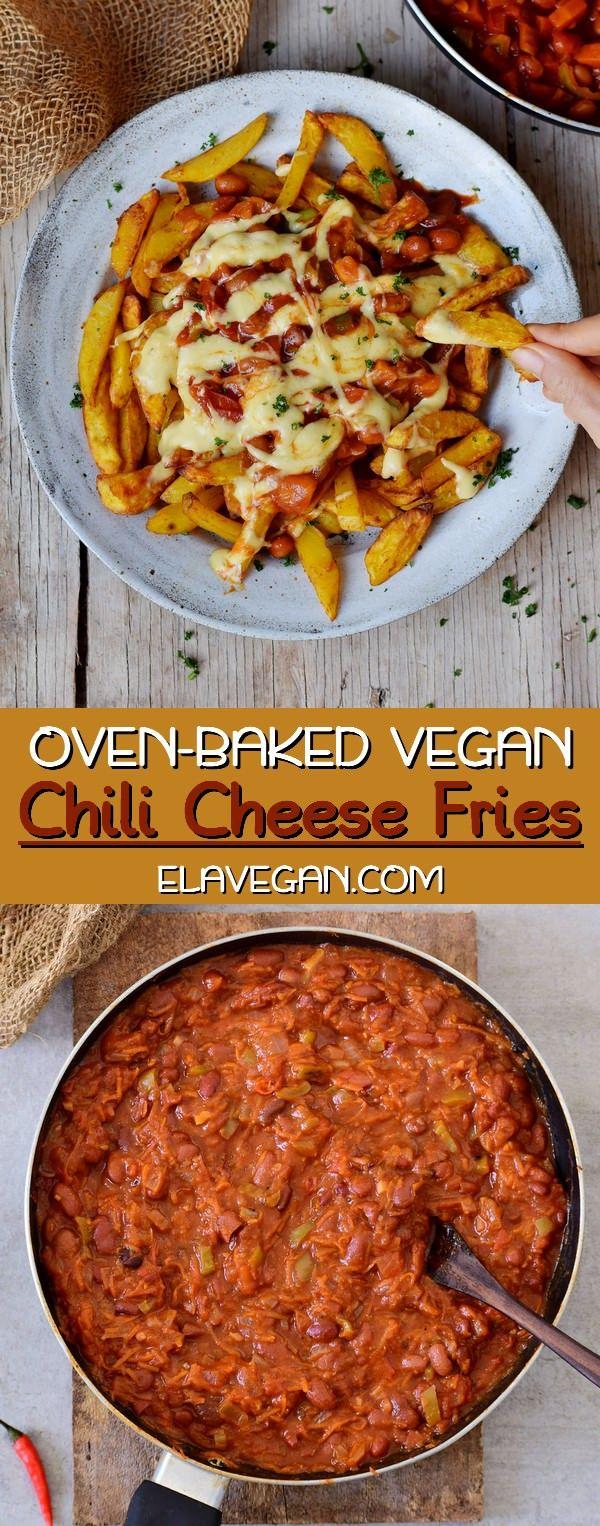 Easy Vegan Chili Cheese Fries