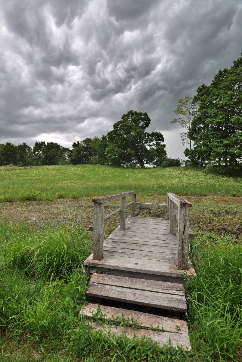 Stormy weather at Scenic Hudson's Burger Hill Park in