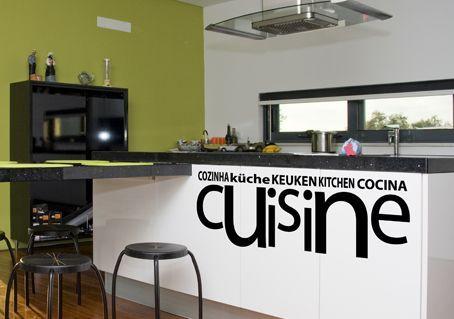 Autocollant de d coration murale pour la cuisine un sticker pour mur ou des meubles comme un - Stickers pour meuble ...