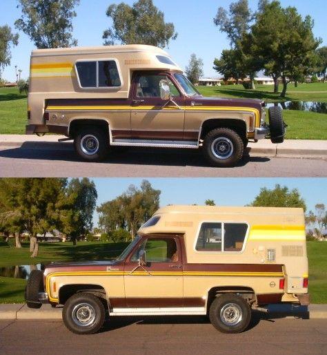 1977 Blazer Chalet Serial Number 1747 Slide In Camper Chevy