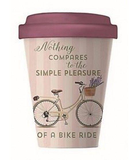 Bamboocup Coffee To Go Becher Bike Pleasure Kaffeebecher Bambus