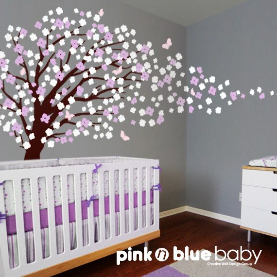 Nursery Wall Decal   Romantic Cherry Blossom Tree Wall Decal Wall Sticker.  $139.00, Via Part 76
