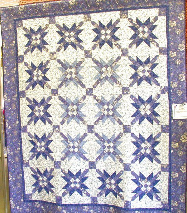 Blue And White Quilts Mexican Star By Kathleen