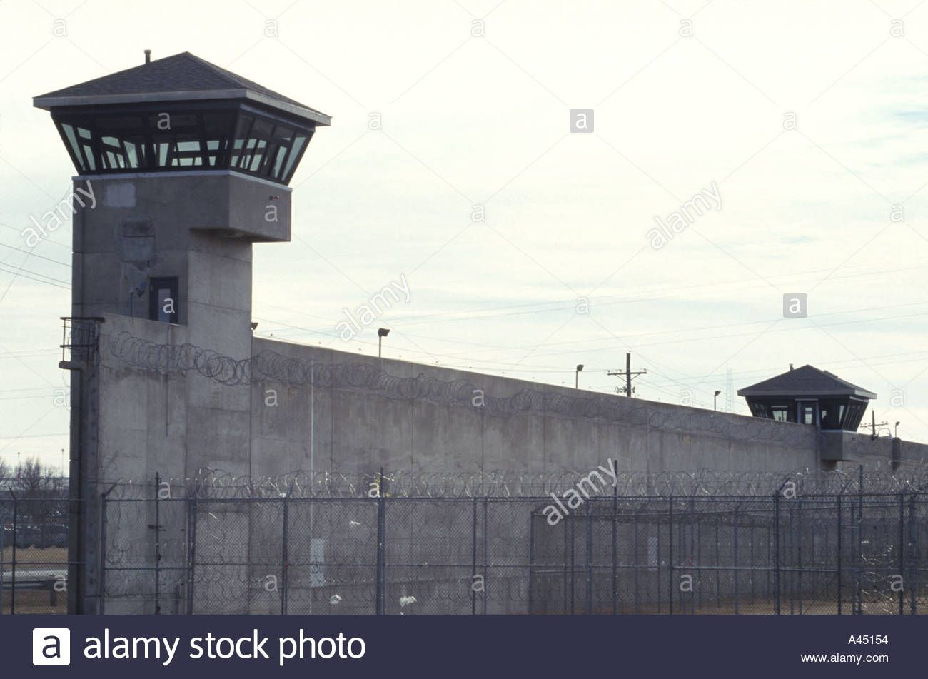 Download This Stock Image Prison Tower And Wall The Towers Are
