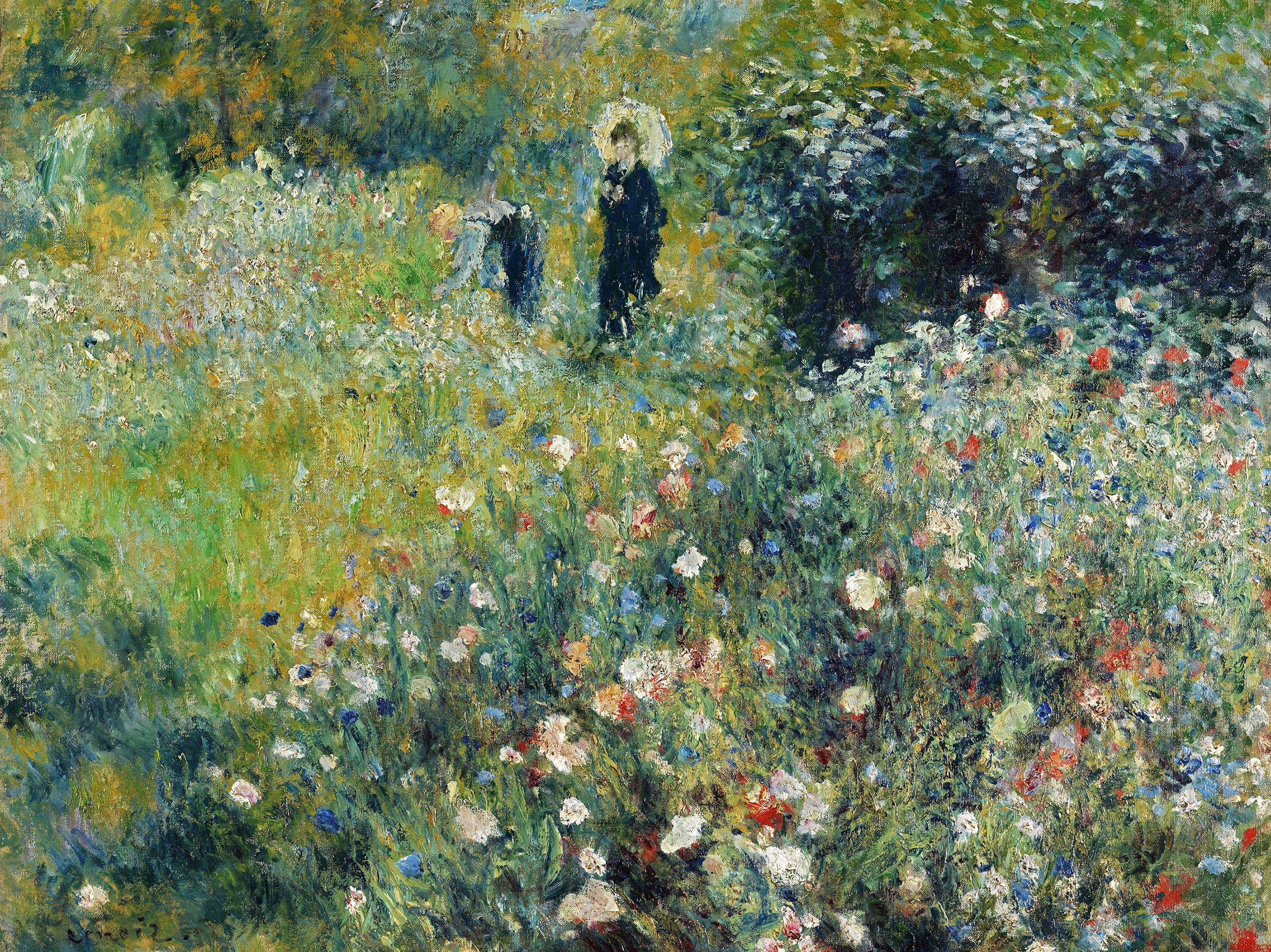 ピエール=オーギュスト・ルノワール / Woman with a Parasol in a Garden
